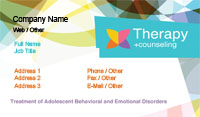 Kaleidoscope Therapy Business Card Template